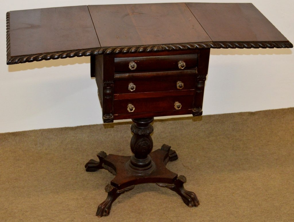 First Empire Mahogany Sewing Stand