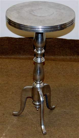 Modern Aluminum Duncan Phyfe Stand