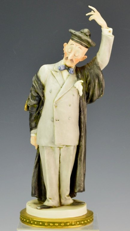 Giuseppe Cappe Porcelain Figure of an Attorney