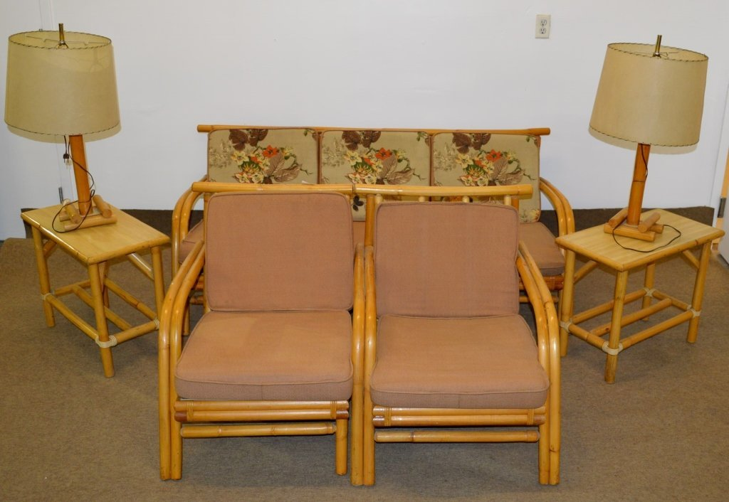 Fricks Reed Style Rattan Sofa Set