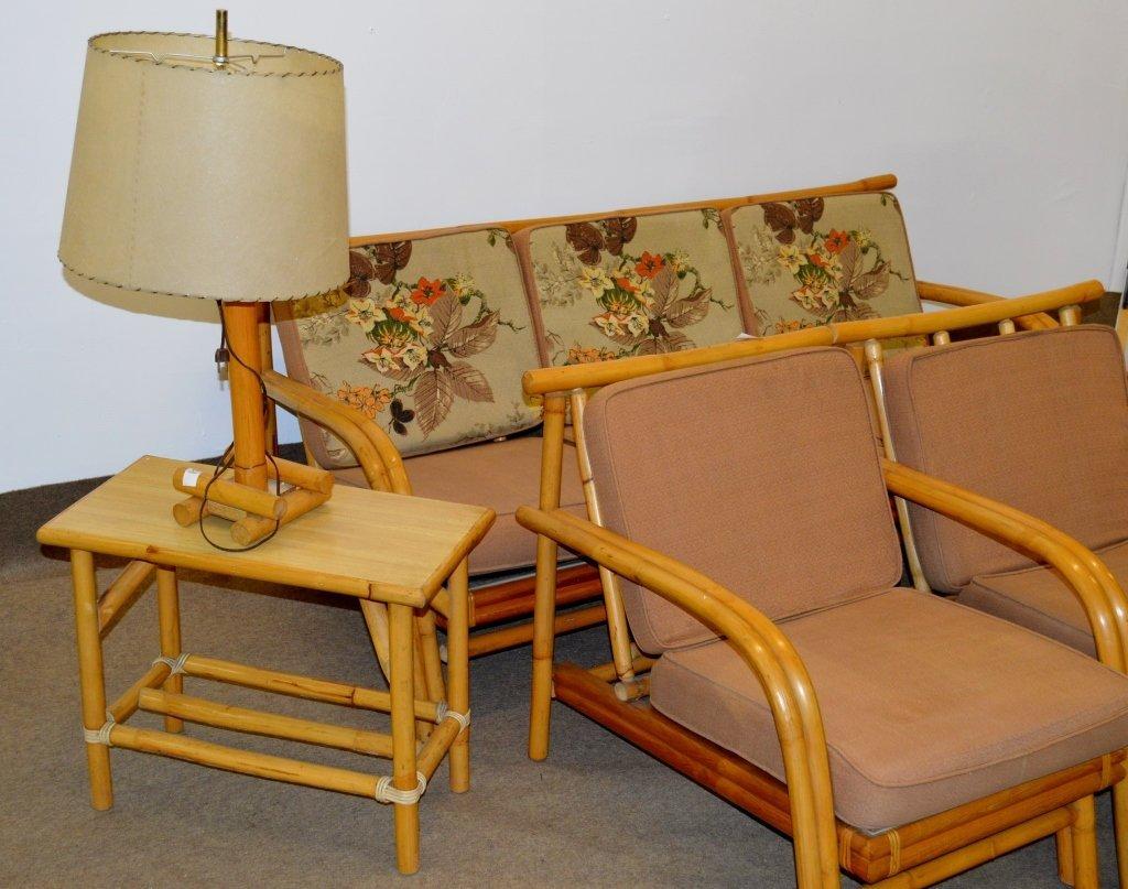 Fricks Reed Style Rattan Sofa Set - 2