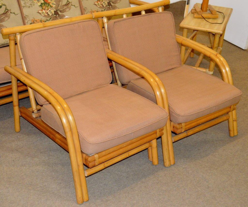 Fricks Reed Style Rattan Sofa Set - 3