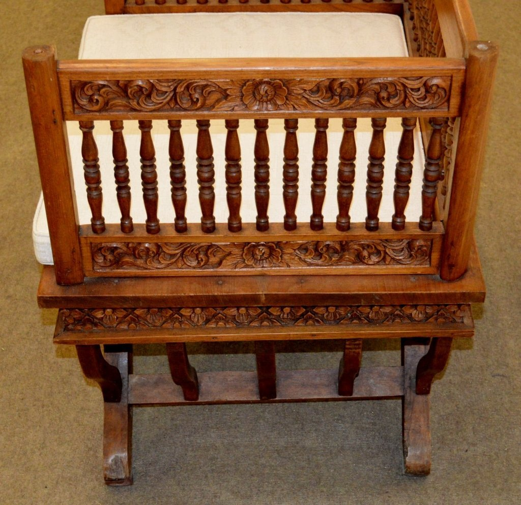Indian Carved Chair - 3