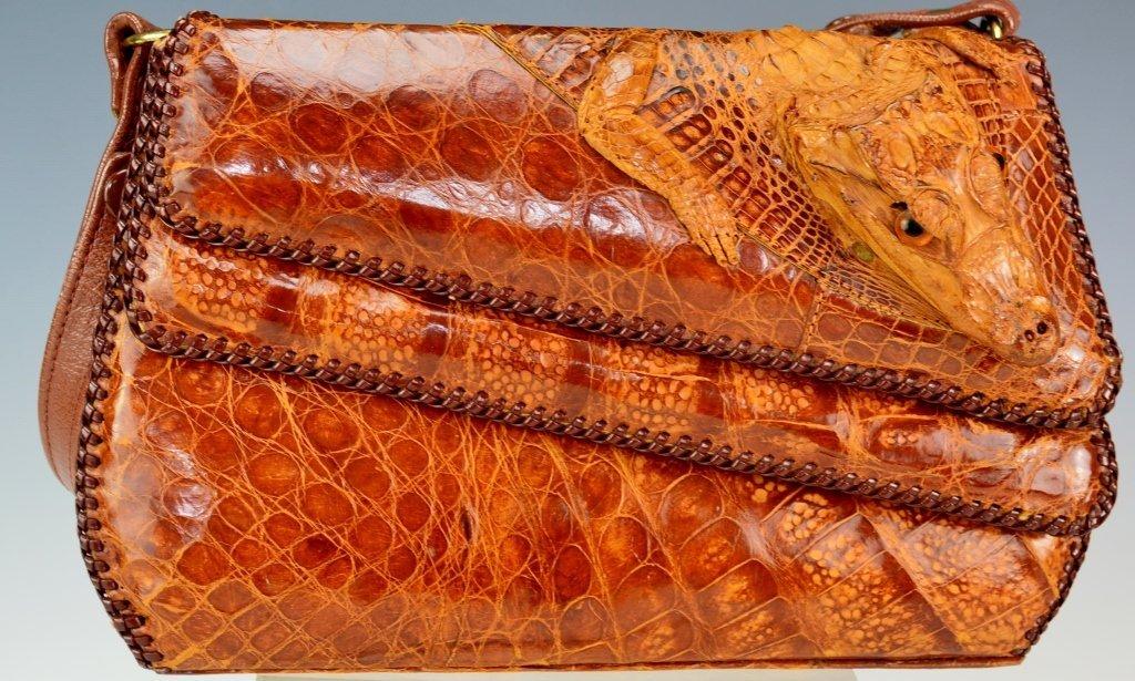 Eduardo Alligator Handbag