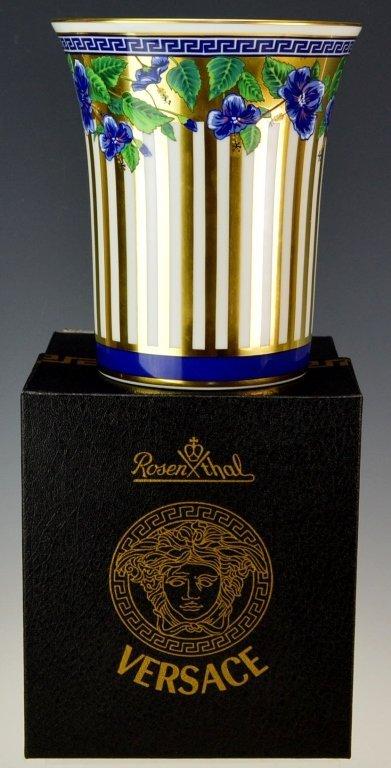 Versace Medusa Vase with Original Box