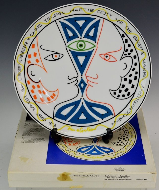 Rosenthal  Plate by Jean Cocteau