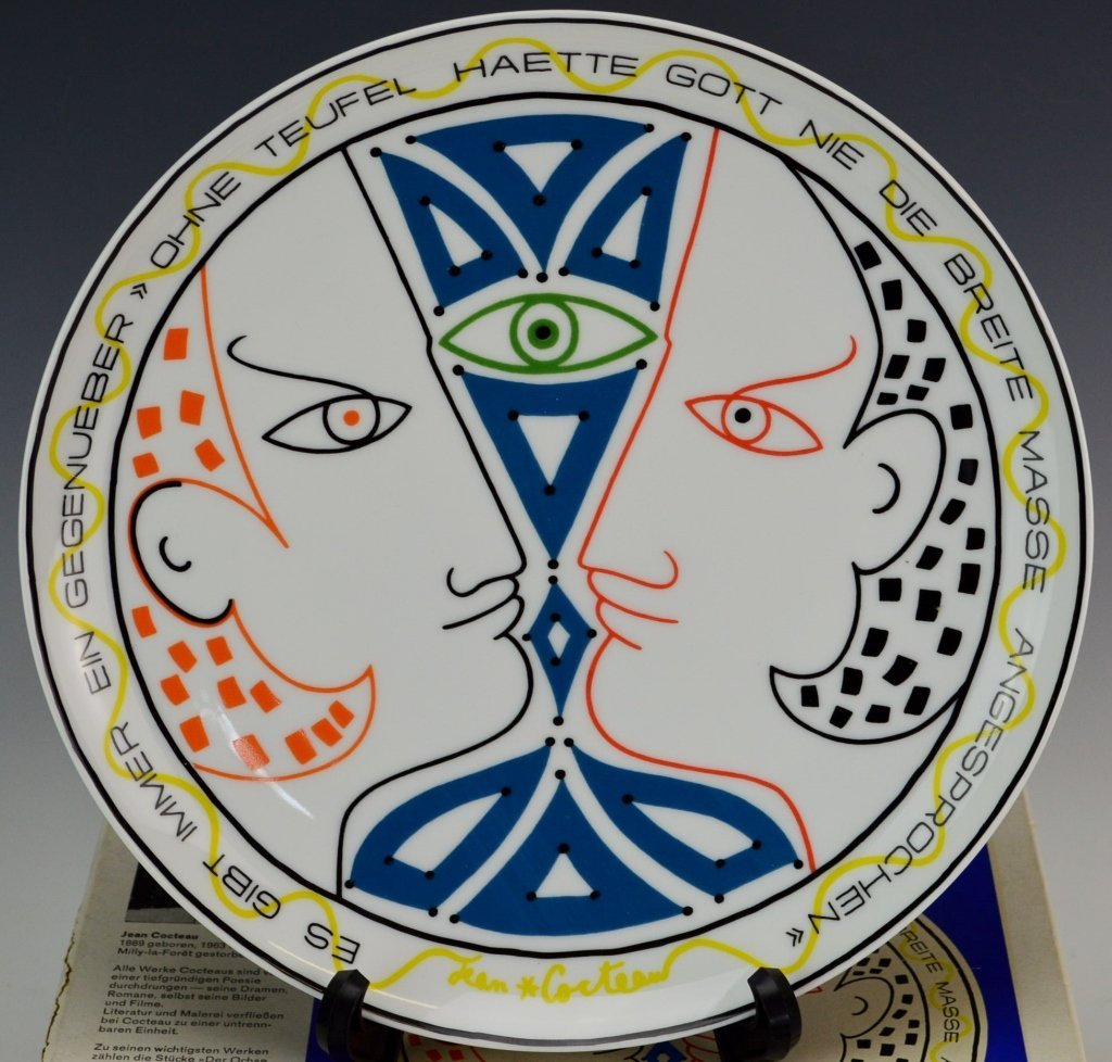 Rosenthal  Plate by Jean Cocteau - 2