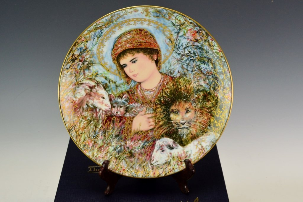Edna Hibel Christmas Plate Grouping - 4