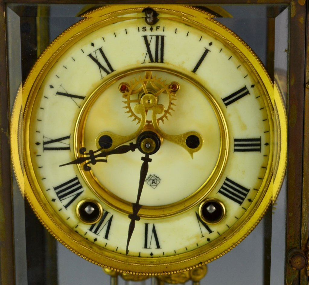 "Ansonia ""Cosmo"" Mantle Clock - 3"