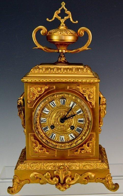 French Ormolu Bracket or Cube Style Mantel Clock