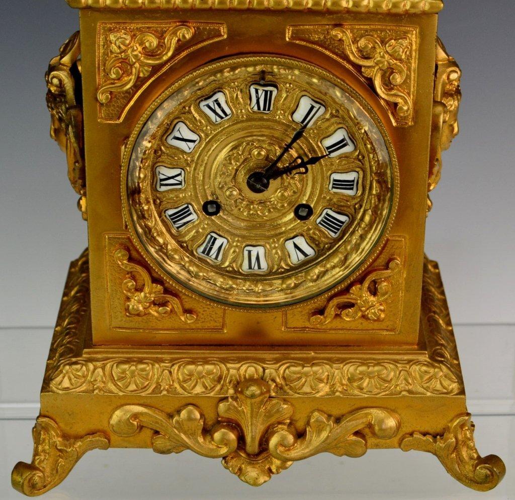 French Ormolu Bracket or Cube Style Mantel Clock - 2