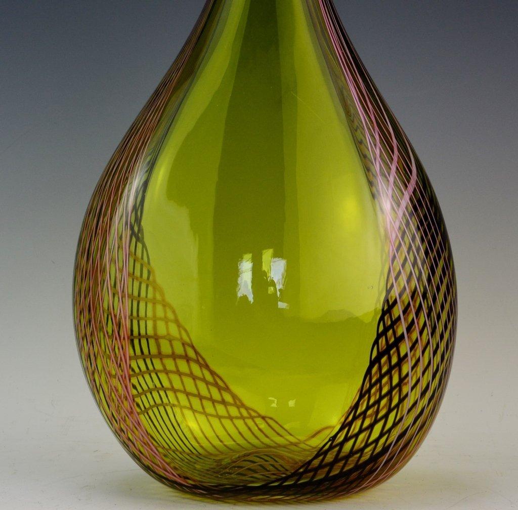 Art Glass Floor Vase - 2