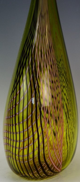 Art Glass Floor Vase - 3