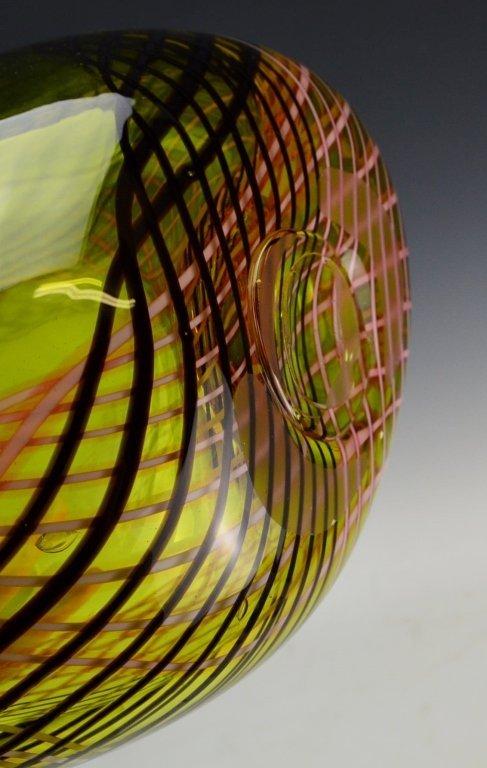 Art Glass Floor Vase - 6