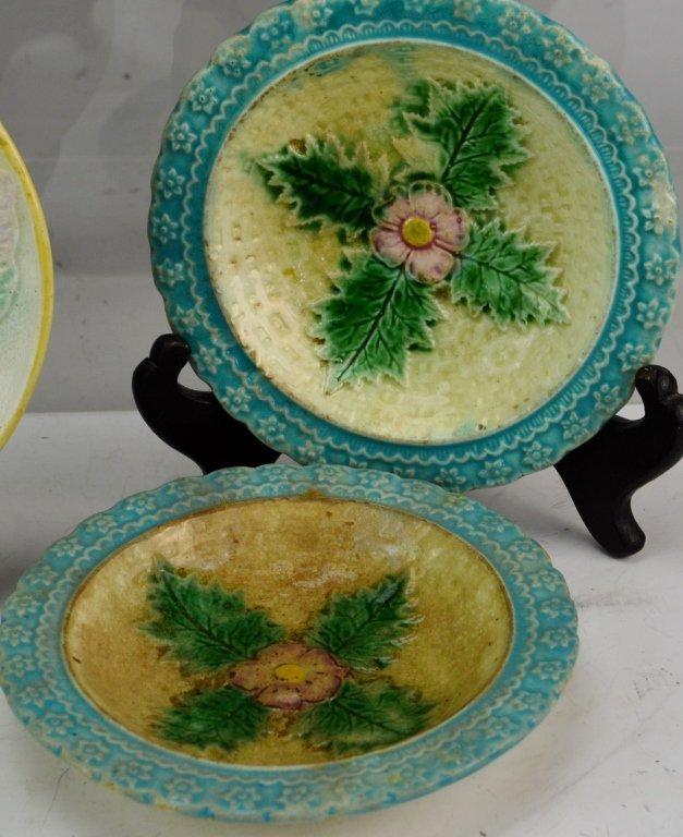 Majolica Dinnerware Grouping - 5