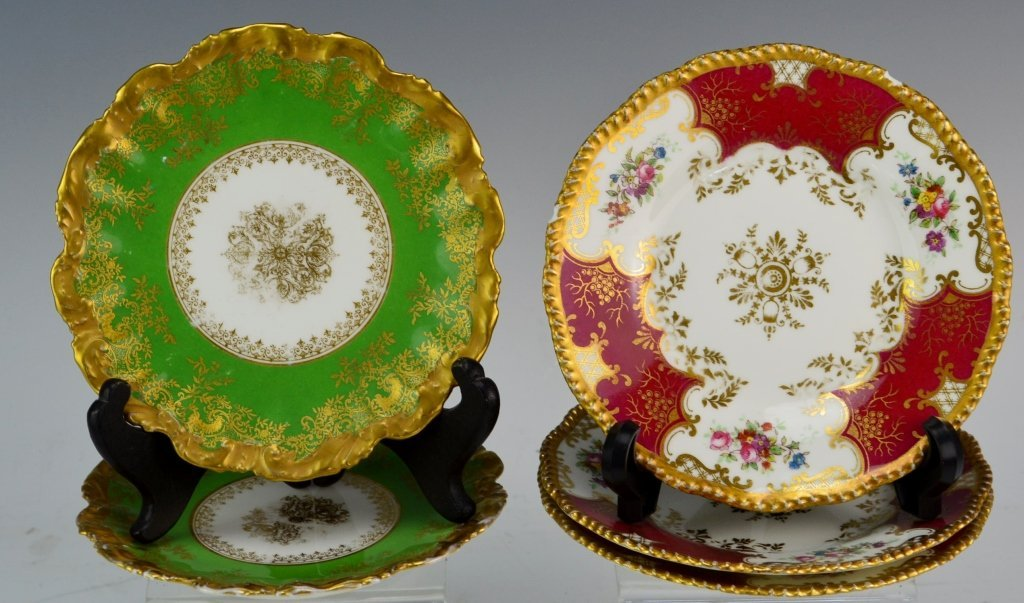 French Limoges Plate Grouping