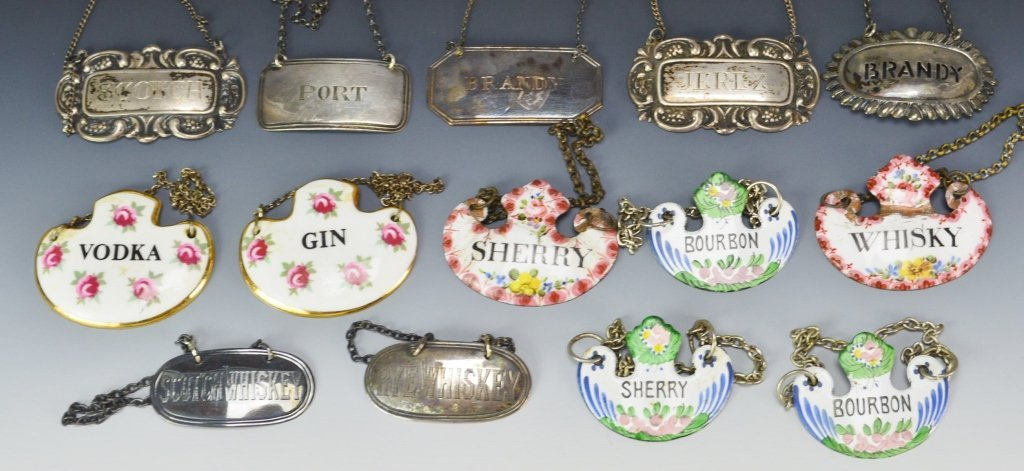 Decanter Tag or Label Grouping