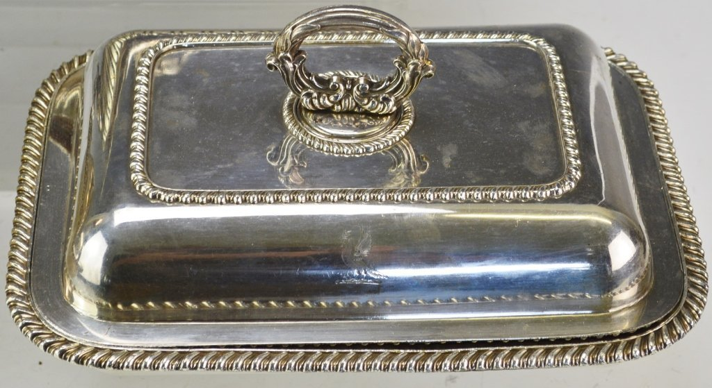 Sheffield Style Silver Plated Chaffing Dishes - 3
