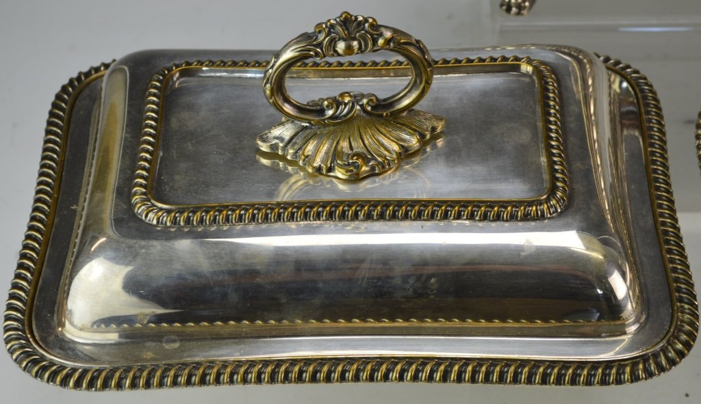 Sheffield Style Silver Plated Chaffing Dishes - 4