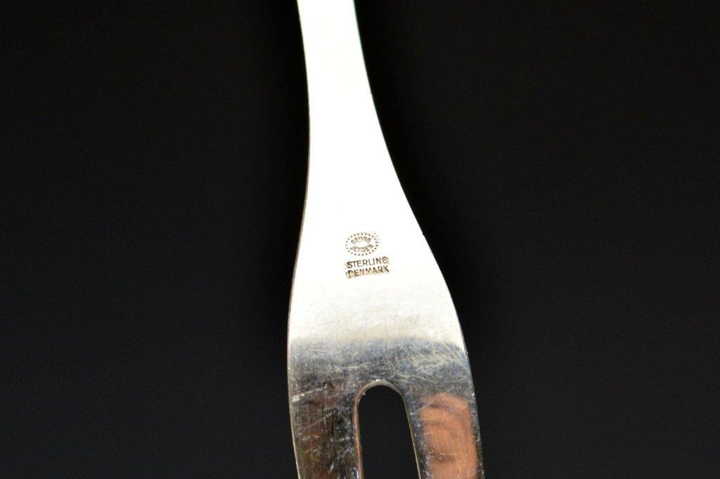 Georg Jensen Sterling Silver Serving Fork - 3