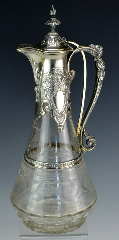 Victorian Silver Mounted Claret Jug