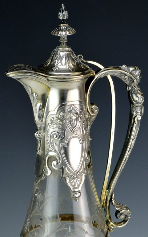 Victorian Silver Mounted Claret Jug - 2