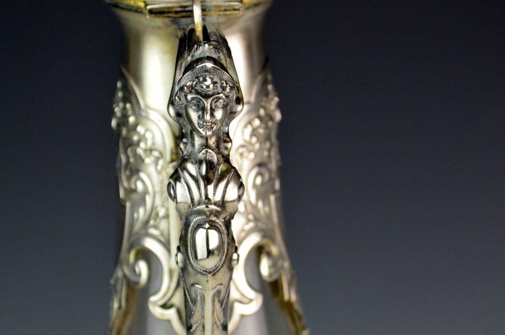 Victorian Silver Mounted Claret Jug - 4