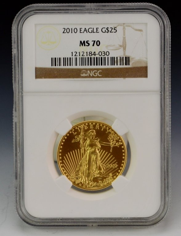 2010 $25 US Gold Bullion Coin MS70