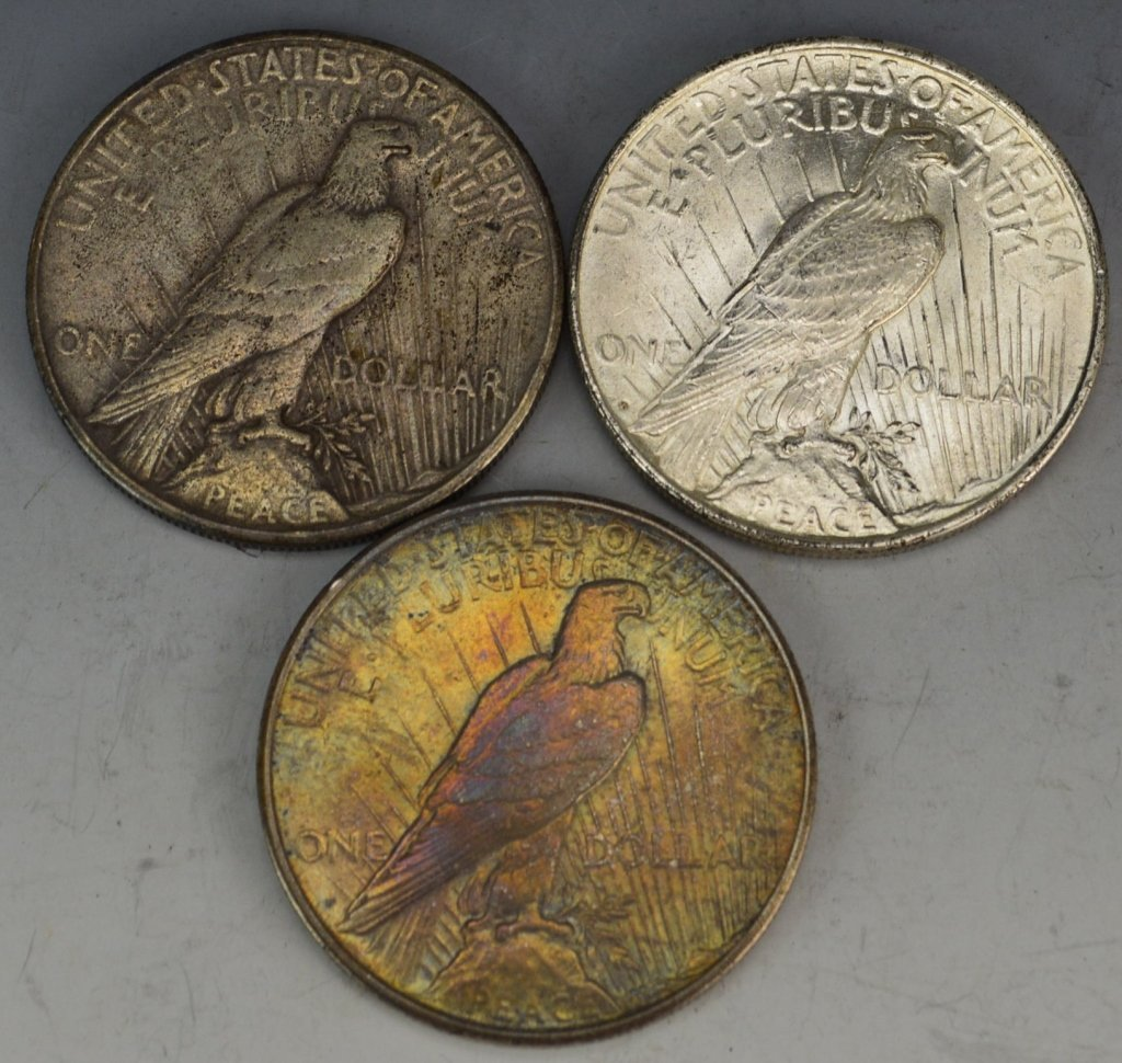 US Silver Peace Dollar Grouping - 2