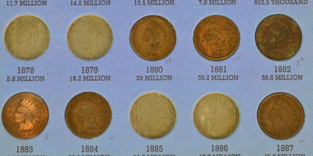 Indian Head Cent Grouping - 5