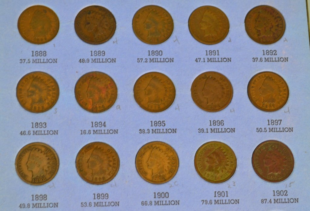 Indian Head Cent Grouping - 6