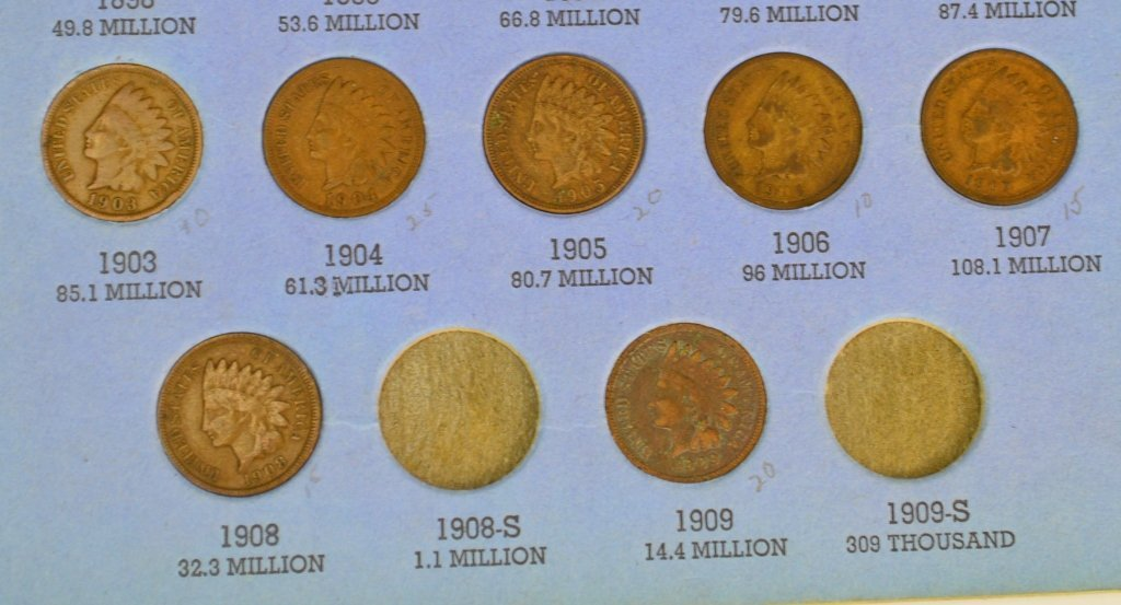 Indian Head Cent Grouping - 7