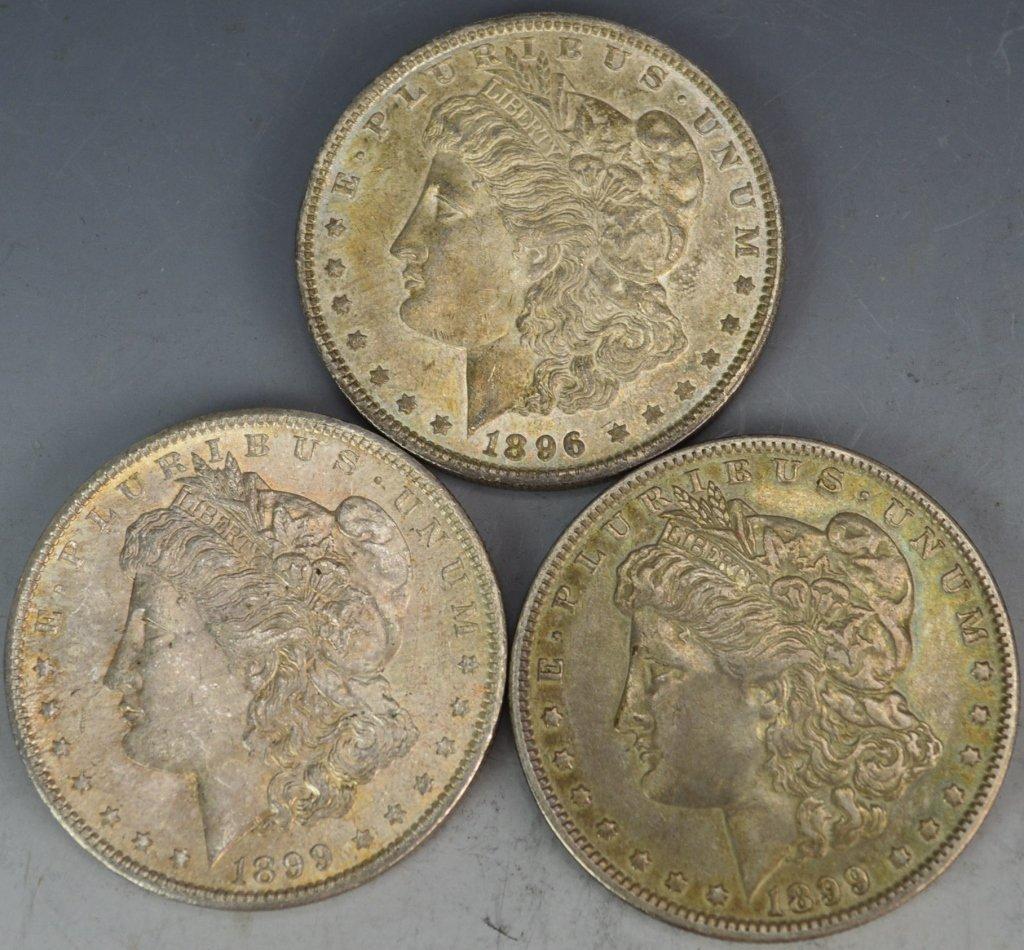 1899 O and 1896 O US Morgan Silver Dollar Grouping