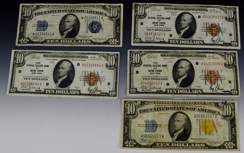 Early Silver Certificate and Currency Grouping - 2