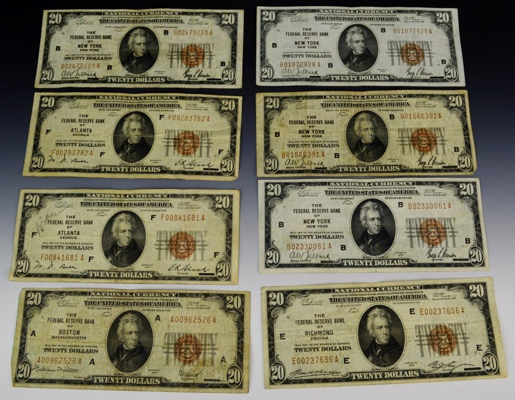 Early Silver Certificate and Currency Grouping - 3