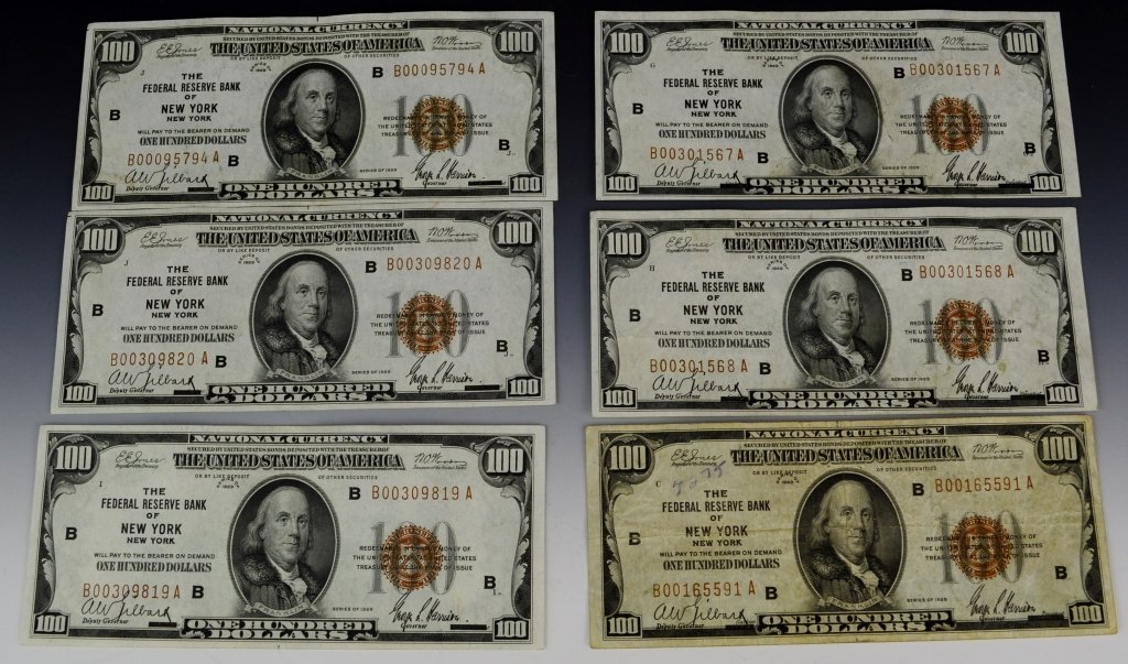 Early Silver Certificate and Currency Grouping - 5