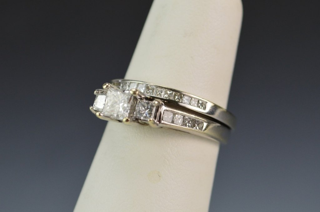 14K WG Engagment and Wedding Ring - 2