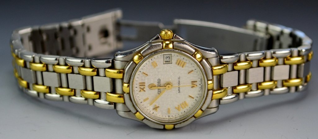 Concord Saratoga Ladies MOP Dial 18K Gold & SST - 2