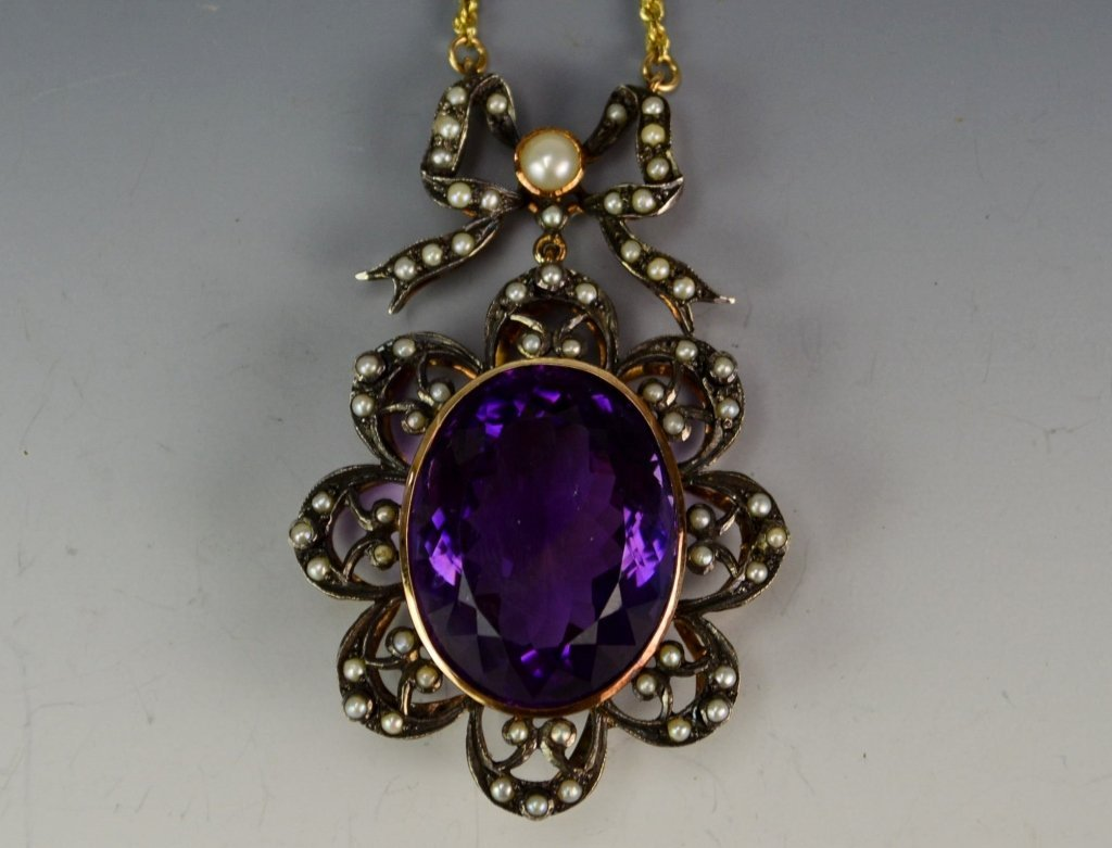 Antique Pendant 14K