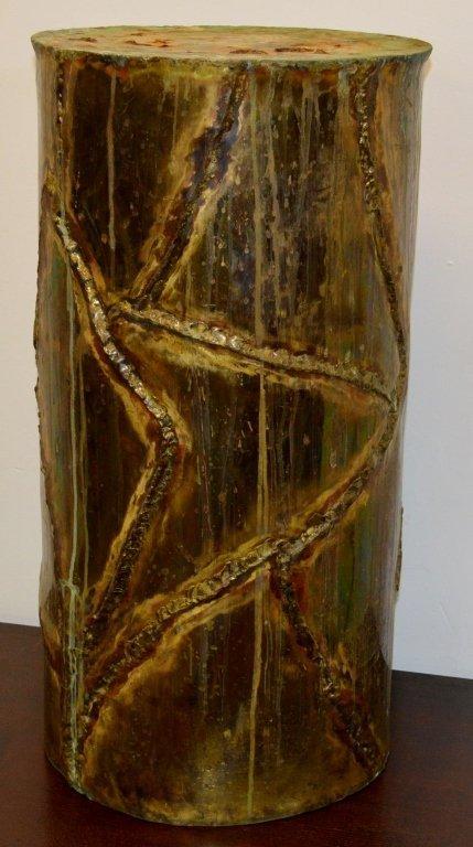 Silas Seandel Modern Copper Pedestal