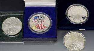 Silver American Eagle Coin Grouping