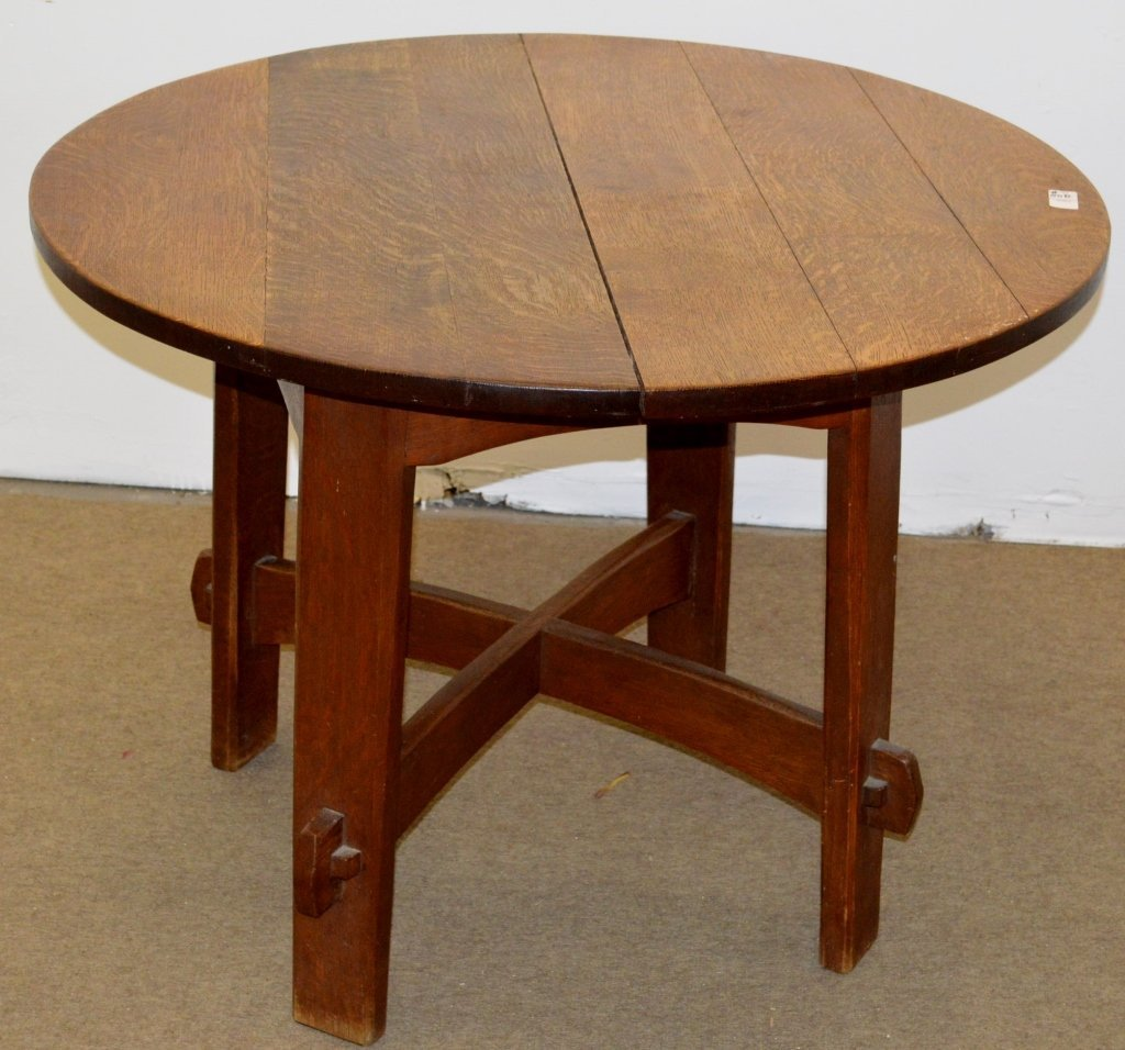 Gustav Stickley Round Library Table Model 636