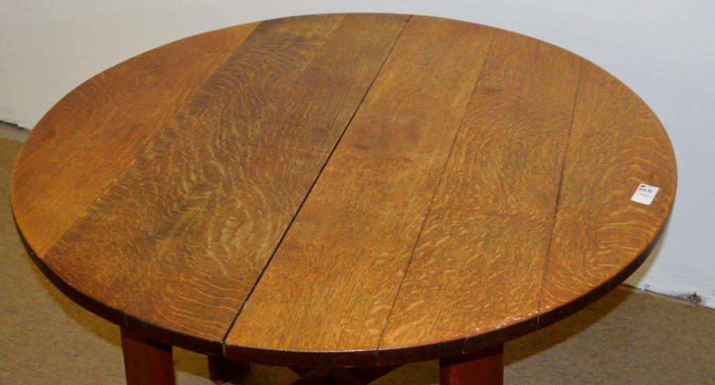 Gustav Stickley Round Library Table Model 636 - 2