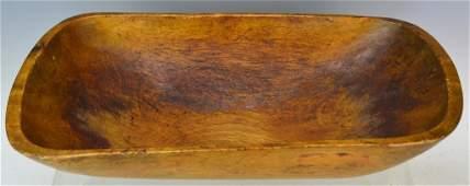 Antique Primitive Trencher Wooden Bowl