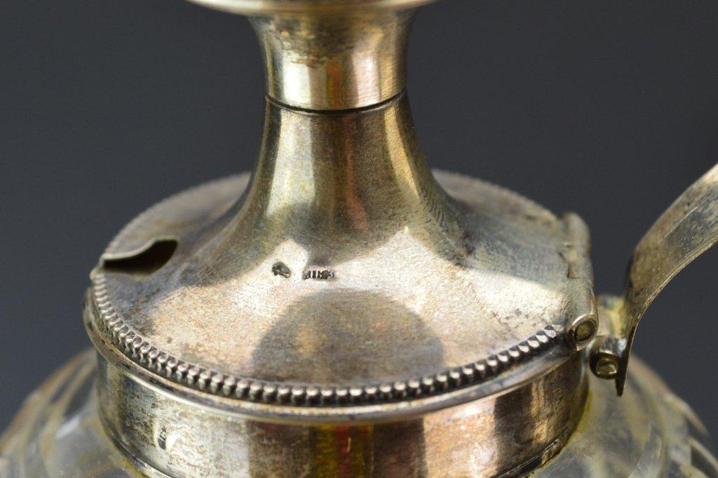 Dutch Silver & Glass Muffineer Cruet Set - 3