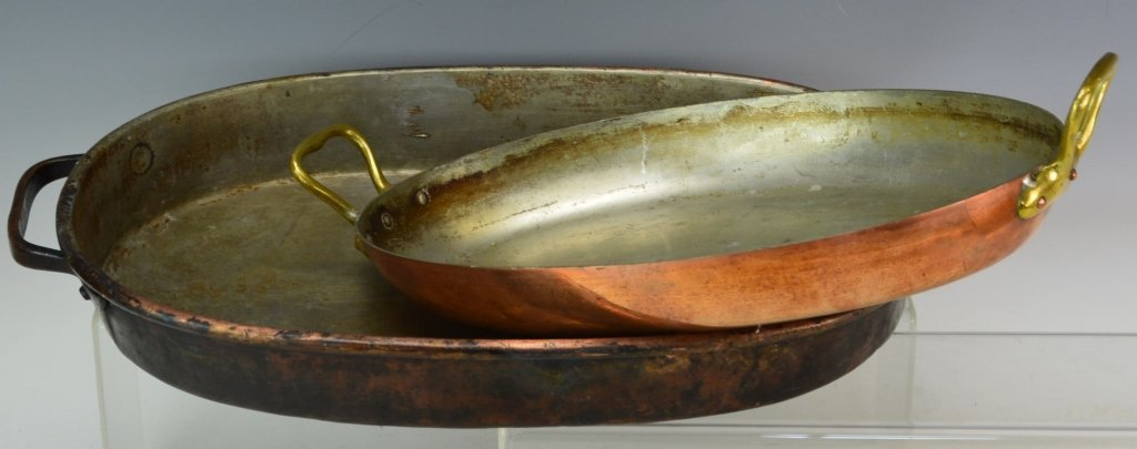 French Copper Roasting Pan grouping