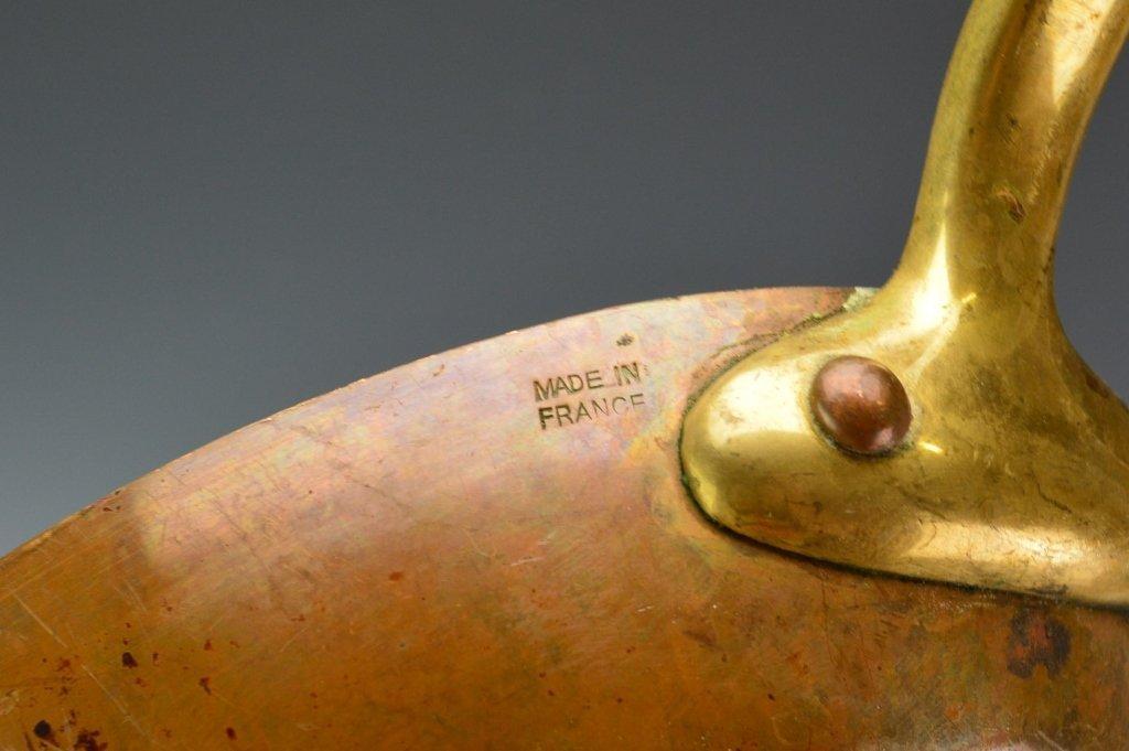 French Copper Au Gratin Pan - 3