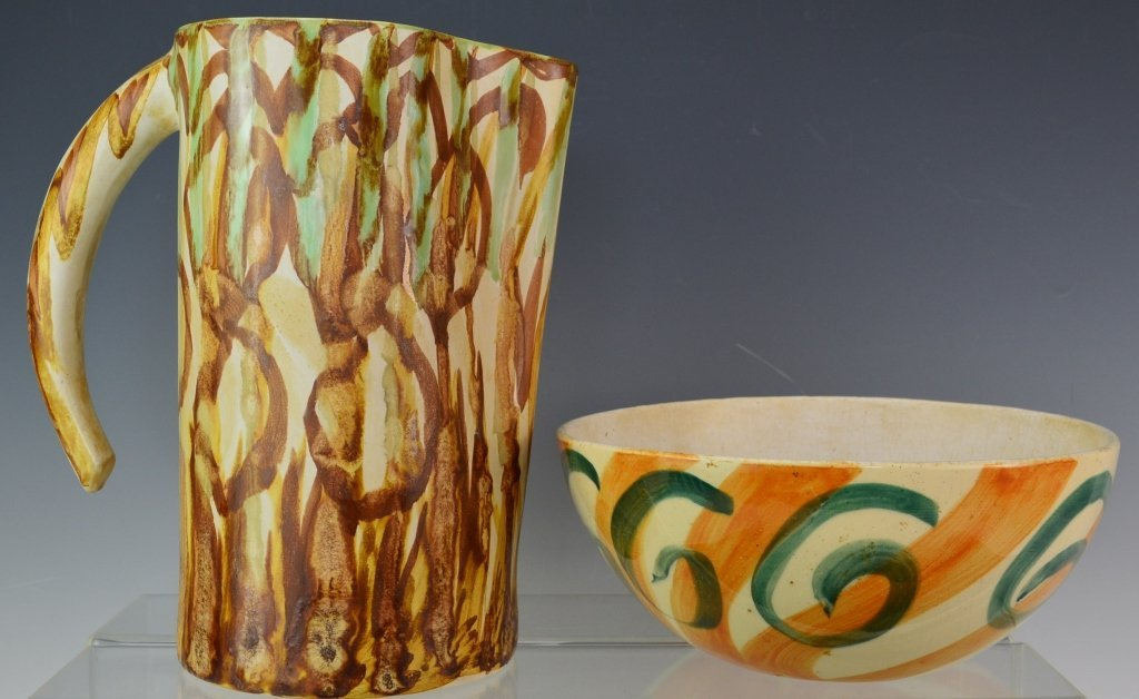 Lieberman Decorated Pottery Grouping