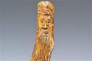 Carved Hardwood Cane