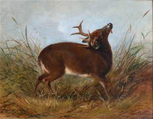 Arthur Fitzwilliam Tait (1819-1905) The Wounded Stag